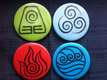 Earth, Wind, Fire and Water: an ensemble of 4 Celtic signs.