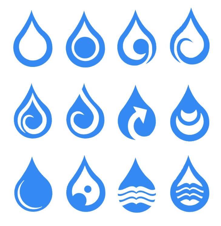 single-water-droplets-symbols-design-vector-icon-set-drops-illustration-blue-white-icons-isolated-white-46938897