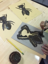 Stenciling more ants!