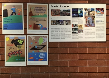 Some of the posters displayed in the library