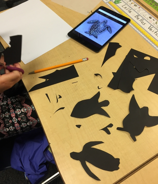 Some students experience with the shape of the animal until they get the shape they want.