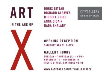 Invitation for the exhibition