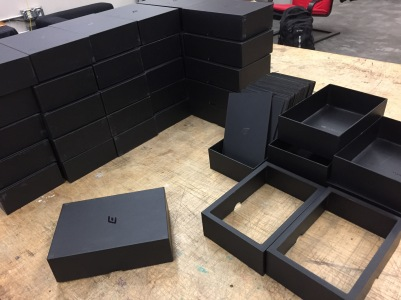 The boxes are from RAFT, I pre-lasered the top to make a window in each of them.